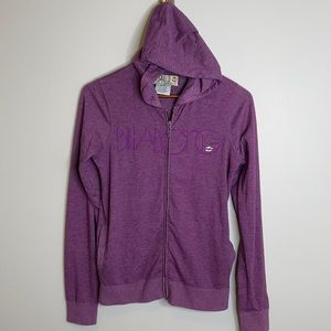 Billabong retro grape embroidered graphic hoodie M